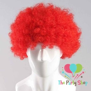 Red Afro Wig for Women & Men Curly Hair Wigs Cricket World Cup 2019 Bangladesh Cricket Supporters Fan Malinga Wigs Artificial Hair
