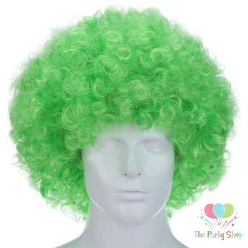 Green Afro Wig for Women & Men Curly Hair Wigs Cricket World Cup 2019 Bangladesh Cricket Supporters Fan Malinga Wigs Artificial Hair (Copy)