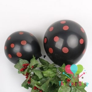 11″ Black Polka Dot Latex Balloons Birthday Party Balloons Wedding Decoration (100 Piece)