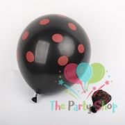 "11"" Black Polka Dot Red Latex Balloons Birthday Party Balloons Wedding Decoration (50 Piece)"