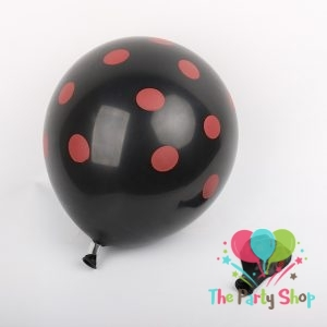 11″ Black Polka Dot Latex Balloons Birthday Party Balloons Wedding Decoration (10 Piece)