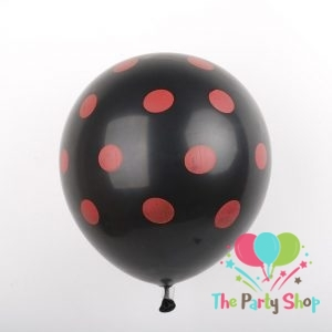 11″ Black Polka Dot Red Latex Balloons Birthday Party Balloons Wedding Decoration (50 Piece)