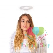 White Feather Fluffy Angel Halo Headband Fairy Fancy Dress Halloween Party Hairband for Children and Adults Photo Props