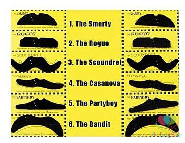 Multicolour 80s Moustache Party Assorted Colour And Different Style Moustaches