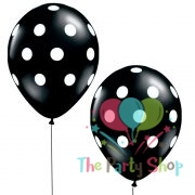 "11"" Black Polka Dot Latex Balloons Birthday Party Balloons Wedding Decoration (10 Piece)"
