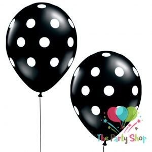 11″ Black Polka Dot Latex Balloons Birthday Party Balloons Wedding Decoration (50 Piece)