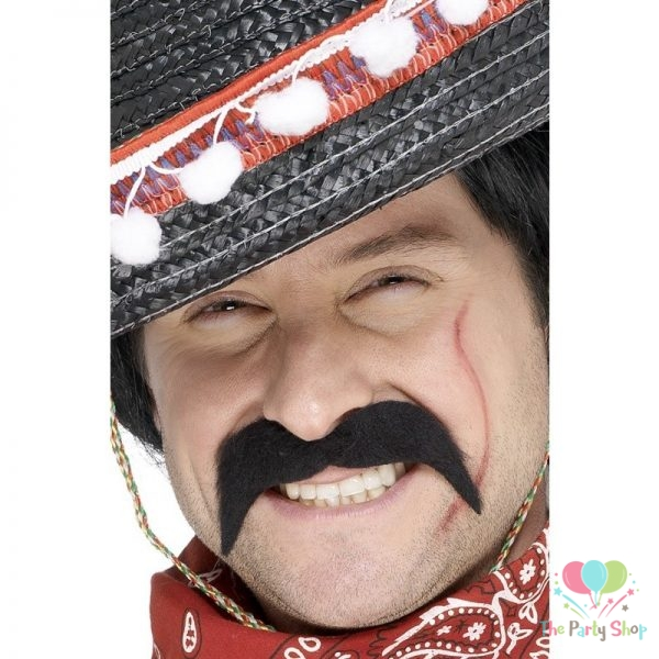 Bandit Hippy Cowboy Costume Novelty Fake Mustaches, Mustache Party Supplies, Self Adhesive Stache Tash Mustaches for Masquerade Party & Performance