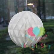 "5.5"" White Tissue Paper Honeycomb Balls Hanging Party Decoration"