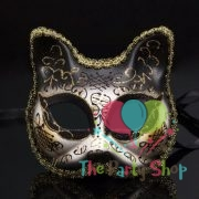 Cat Venetian Ball Masks Half Face Masquerade Mask Halloween Theme Party Cat Cosplay Women Mask Dance Mask Props