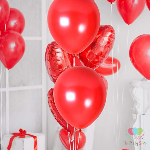 """10"""" Pearl Glossy Red Latex Balloons Birthday Party Festivals Balloons Wedding Decoration (25 Piece)"""