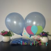 "10"" Pearl Glossy Light Blue Latex Balloons Birthday Party Festivals Balloons Wedding Decoration (25 Piece)"