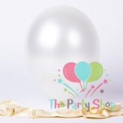 "10"" Pearl Glossy White Latex Balloons Birthday Party Festivals Balloons Wedding Decoration (25 Piece)"
