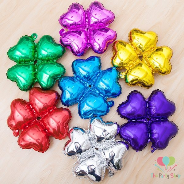 18 inch Heart Shape Clover Four Petals Foil Balloons Arches Column Bracket Wedding Birthday Party Decoration Celebration (2)
