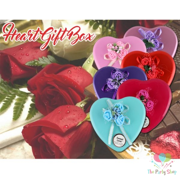 European Style Cute Heart Shaped Metal Box Jewellery Box, Gift Box, Box for Return Gifts, Ring Box, Accessory Box Wedding Favour Boxes