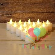 LED Tea Light Candles TeaLight Lamp Realistic Battery Powered Flameless White Warm Flicker Candles Wedding Love Valentines Birthday Decorations