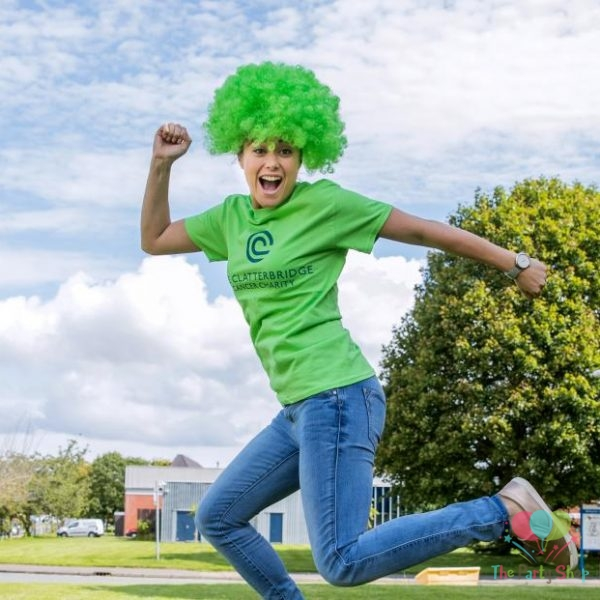 Green Afro Wig for Women & Men Curly Hair Wigs Cricket World Cup 2019 Pakistan Cricket Supporters Fan Malinga Wigs Artificial Hair