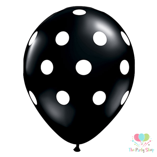 "11"" Black Polka Dot Latex Balloons Birthday Party Balloons Wedding Decoration (50 Piece)"
